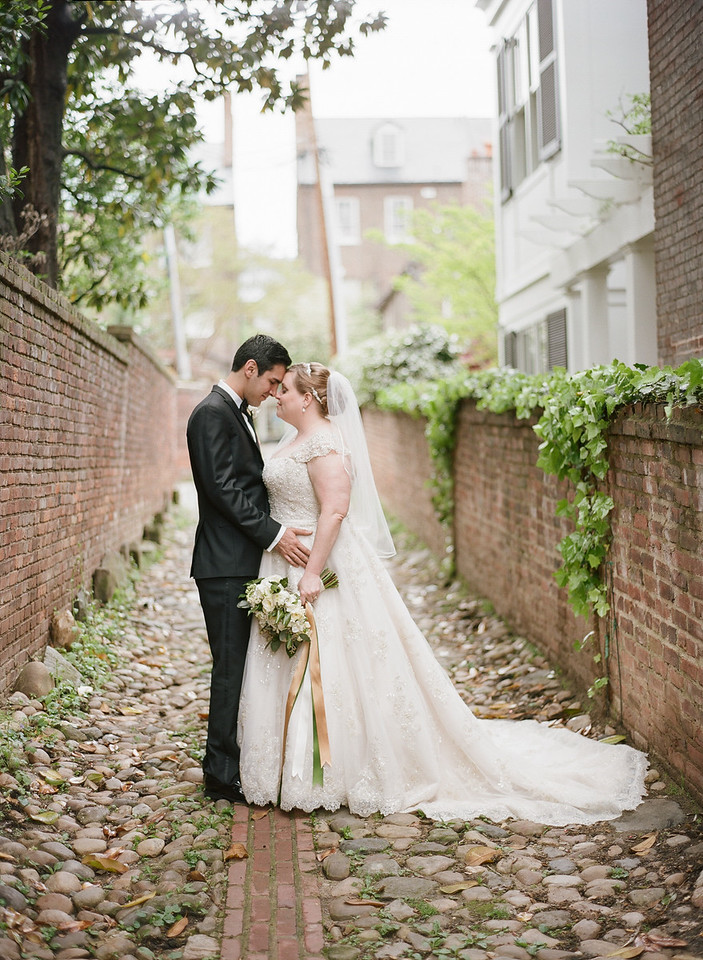 Washington DC film wedding photographer. Image from Catherine and Walter's wedding in Old Town Alexandria.