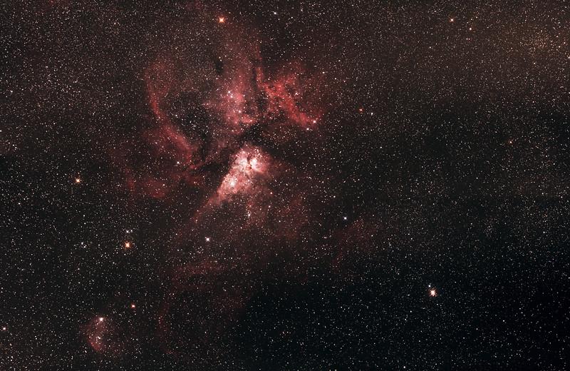 Caldwell 92 Eta Carinae Nebula - 24/2/2017 - 4 panel mosaic test