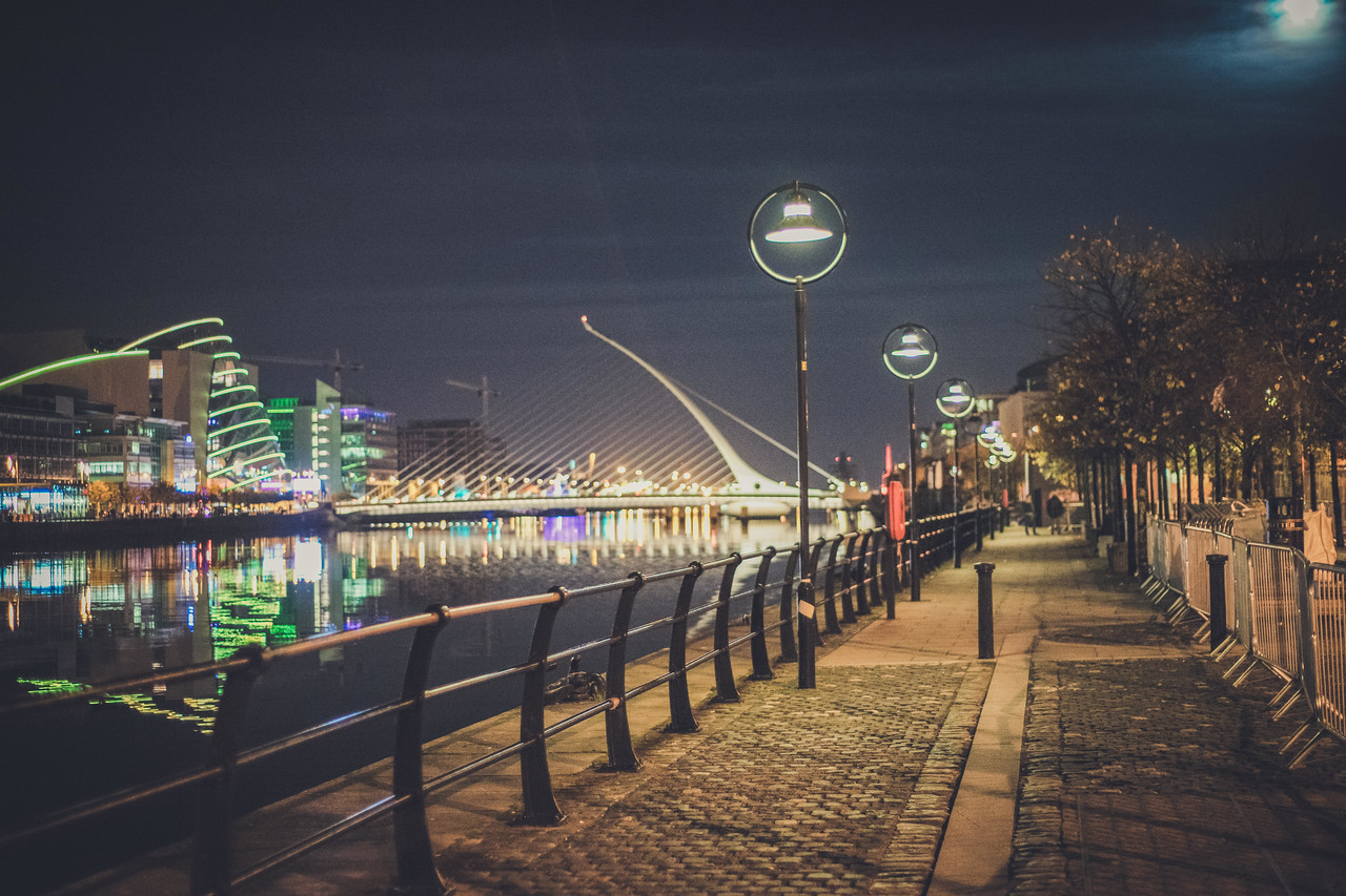 Path to Grand Canal Docks (Photo by Neil Arthurs) Cost to Live in Dublin, Ireland For A Month