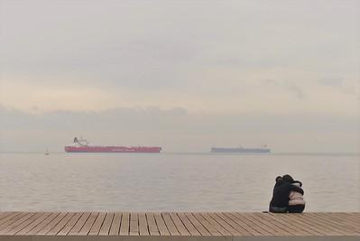 Thessaloniki, Walking at Nea Paralia.
