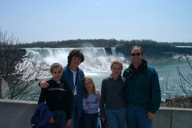 Cardwell Family at Niagara Falls