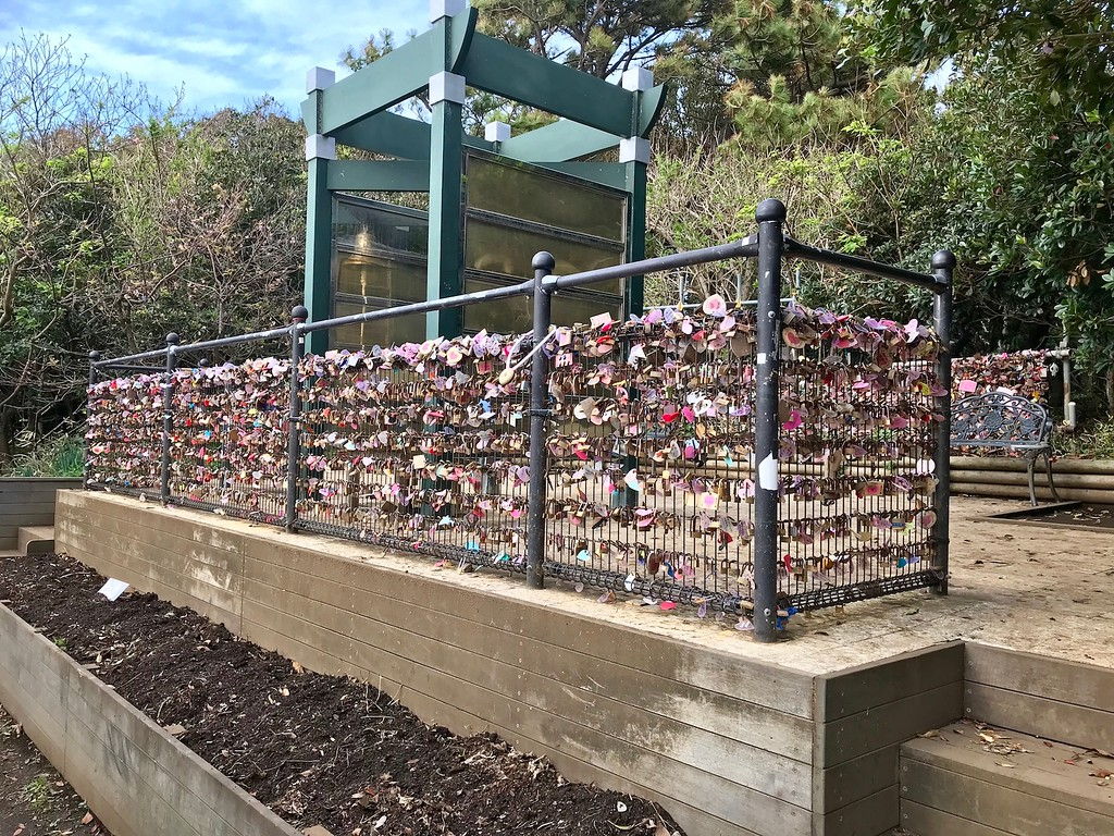 So many love locks!