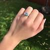 1.73ctw Blue Marquise Cut Diamond Trilogy Ring 17