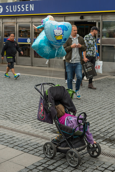 On her own, Stockholm, July 2015