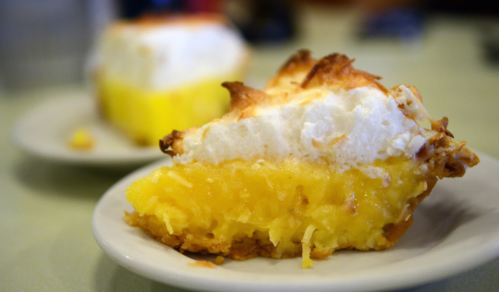. House-made pie, including coconut cream, foreground, and lemon meringue -- are the perfect ending to breakfast or lunch at the Wagon Wheel Cafe. (Pioneer Press: C.J. Sinner)