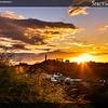 Sunset behind Calton Hill