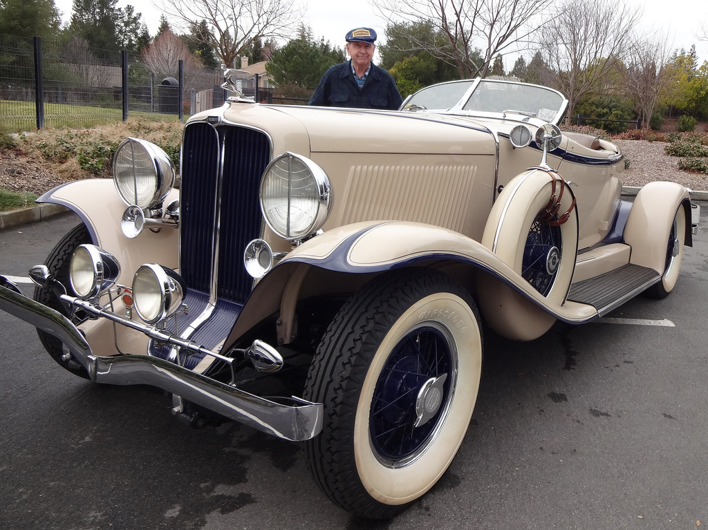 . Lloyd Riggs, of Walnut Creek, Calif., shows his rare 1931 Auburn Speedster Model 8-98. (David Krumboltz/For Bay Area News Group)
