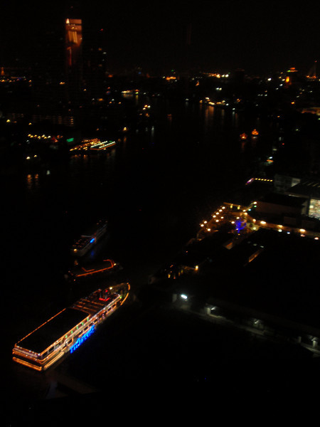 So we went back to the hotel, and watched the dinner boats cruising up the river for celebrations.