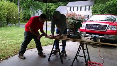Roger Sandvik Eagle Project workday