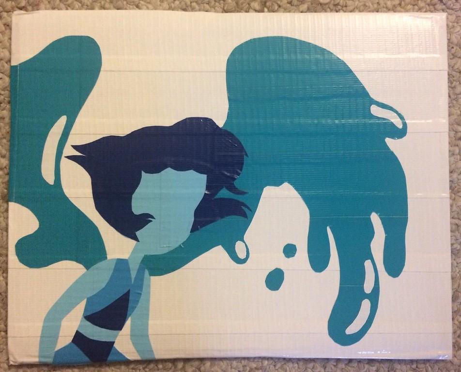 ". Artwork by Jani Reddick <br> Lapis Lazuli from the Cartoon Network show \""Steven Universe.\"""