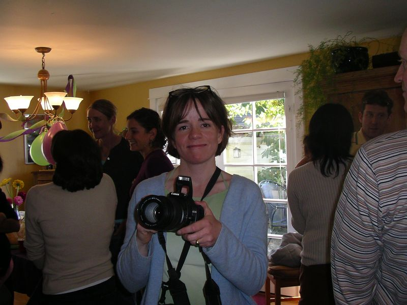 Here I am with Rene's camera. I want one!