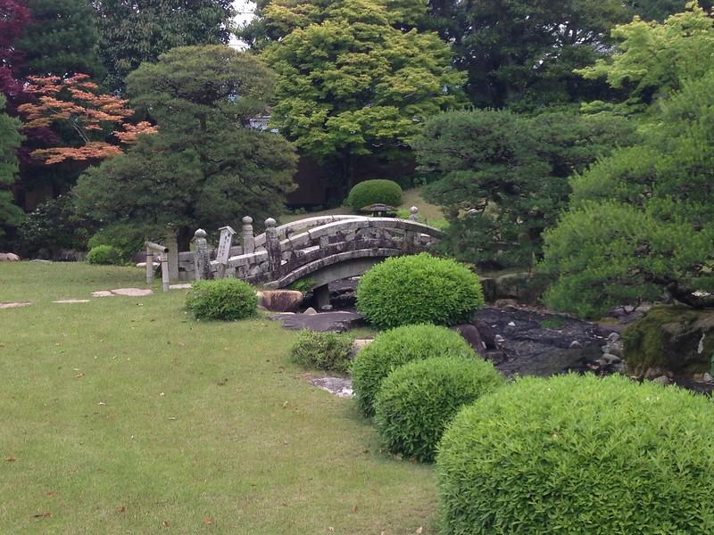 Gardens at Kikuya merchant house, Hagi- Leslie Rowley S95
