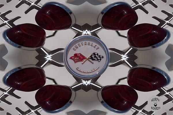 1953 White Corvette