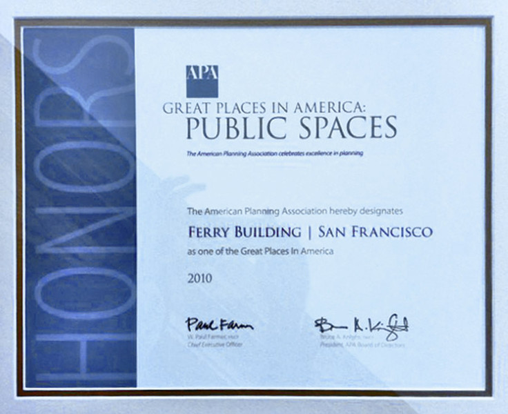The framed award