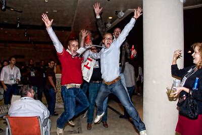 Good sports! at Huey Louis Party