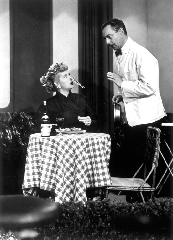 ". ""I Love Lucy\""  Lucille Bll in \""Paris At Last\""   Los Angeles Daily News file photo"