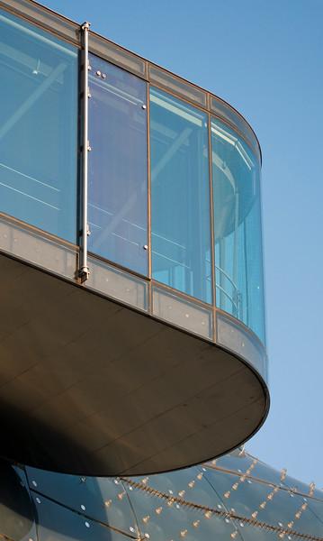 Viewing Platform and Facade of Kunsthaus in Graz, Austria