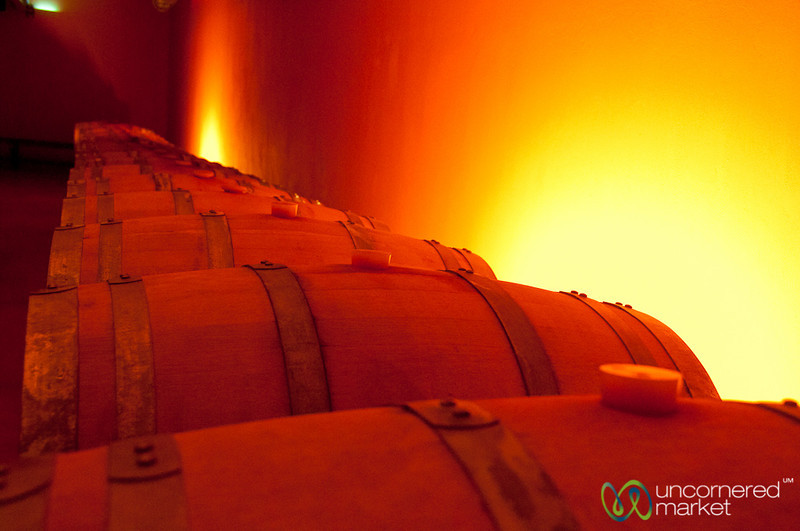 Zachariodaki Vineyard Wine Barrels - Crete, Greece