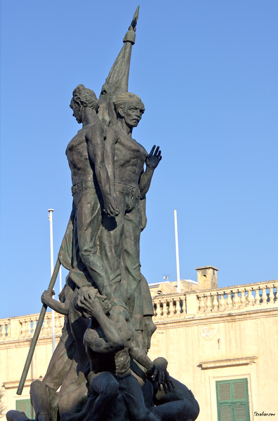 Valletta, Malta.     Sette Giugno Monument in St George's Square