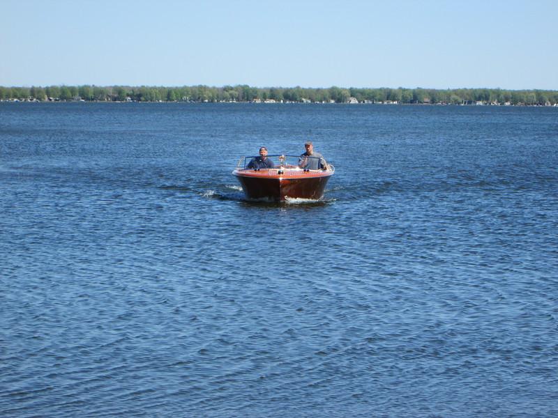 Returning from lake run.