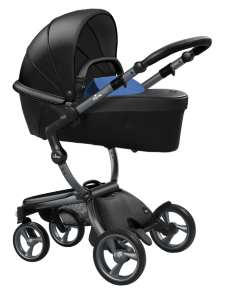 Mima_Xari_Product_Shot_Black_Flair_Graphite_Chassis_Denim_Blue_Carrycot.png