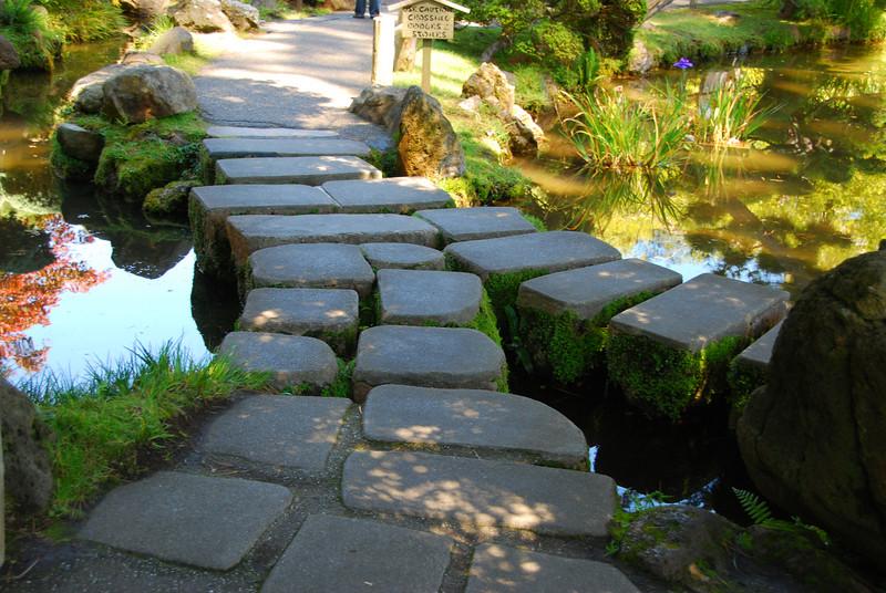A stone bridge at the Tea Gardens.