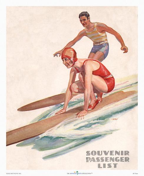 170: 'Souvenir Passenger List' Ocean Navigation Company, ca 1939.