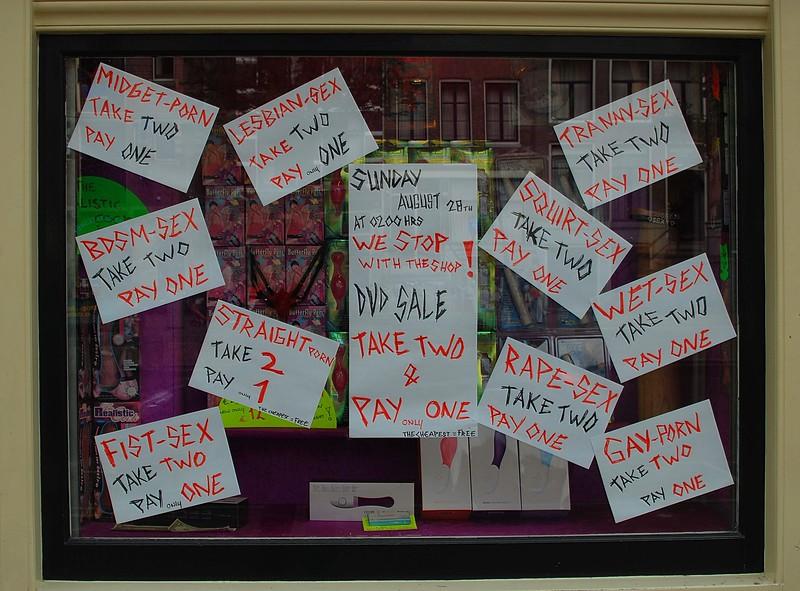 Sex-shop sale in Amsterdam