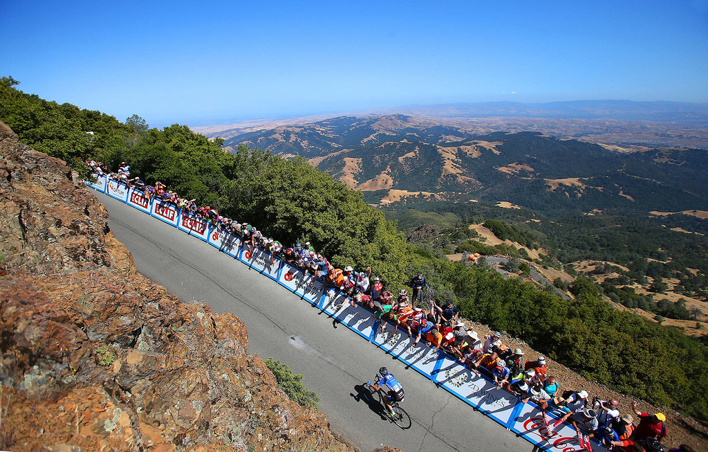 . Team Netapp-Endura rider Leopold King races up Mount Diablo State Park to win Stage 7 of the Amgen Tour of California at the summit of Mt. Diablo in Contra Costa County, California, on Saturday, May, 19, 2013. (Aric Crabb/Oakland Tribune/MCT)