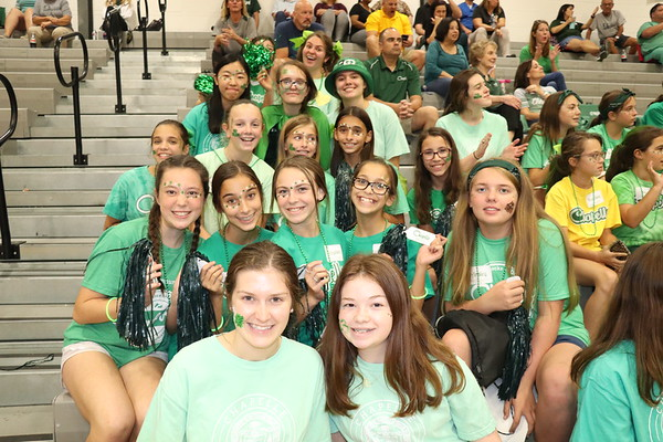 Girls In Green Volleyball Game 2019