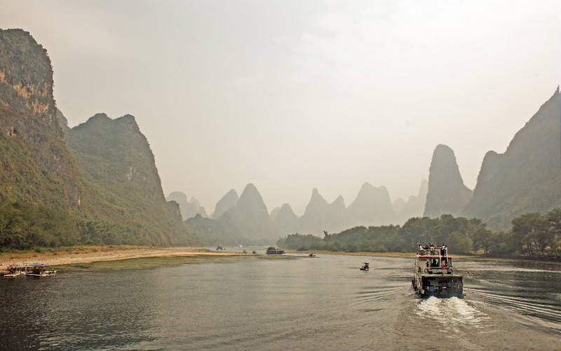 the karsts (stone forests) of the Li River, the karsts (stone forests) of the Li River