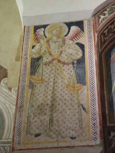 Church of San Giovenale - Interior frescoes