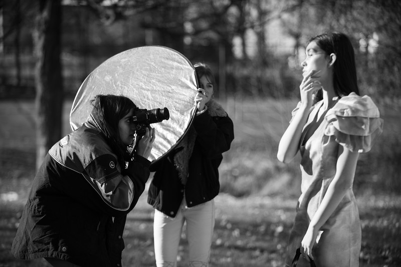FADS outdoor shoot Good behind the scenes photos  Aanya was lead photographer  Weather was quite cold used D5 + 50mm and 70-200mm