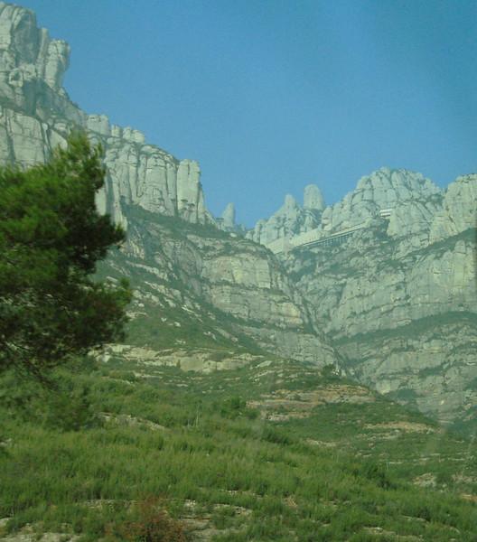 Mountain of Montserrat and Benedictine Monastery