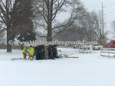 1/22/08 - Delhi Twp rollover with extrication, 1058 N. Aurelius