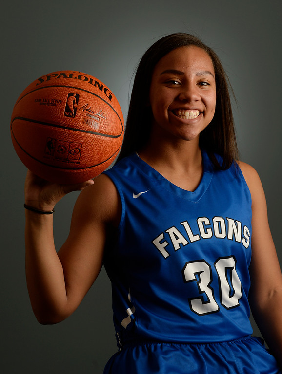 . The  Colorado All-State basketball teams for boys and girls at The Denver Post on Wednesday, March 30, 2016. Highlands Ranch player Leilah Vigil, sophomore. (Photo by Cyrus McCrimmon/ The Denver Post)