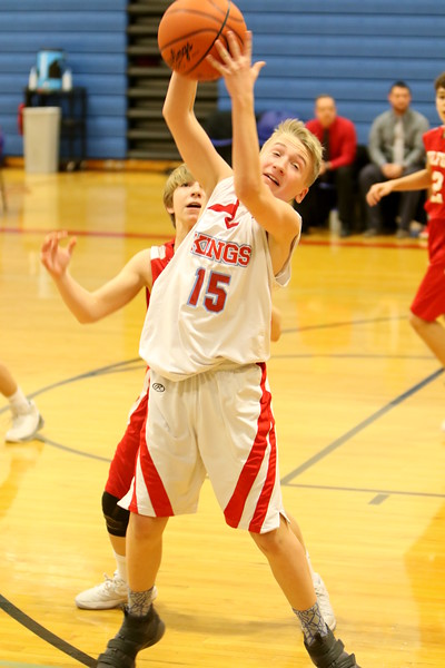 7th grade boys basketball vs Kings 1-17-18