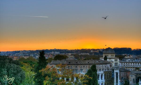 Freedom Awaits At The Horizon. Rome, Italy