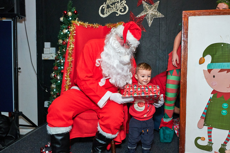 Santa at Woolworths social club 2019