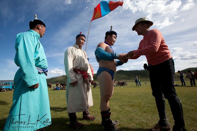 Local naadam in Bunkhan. Mongolia.