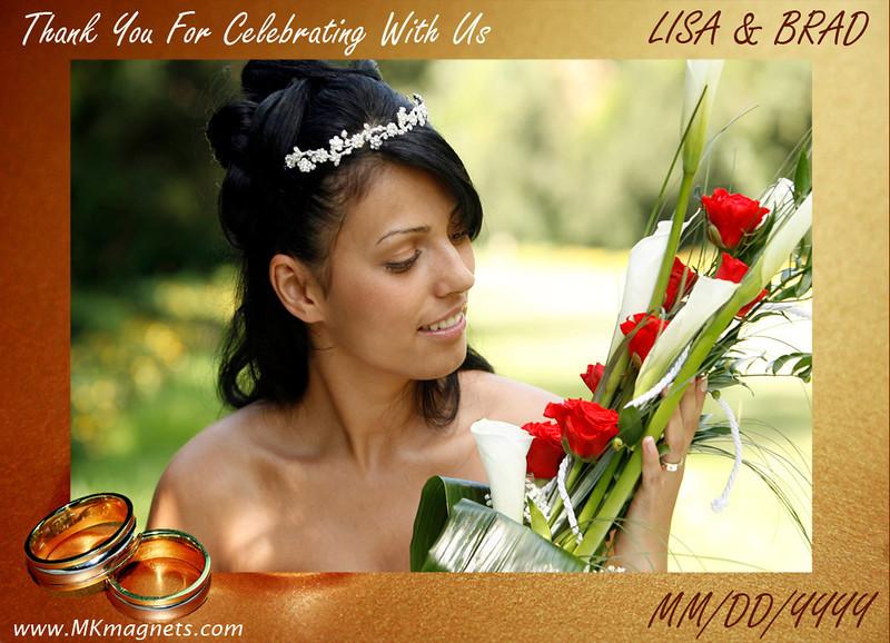 wedding magnet frame - brown with rings.jpg