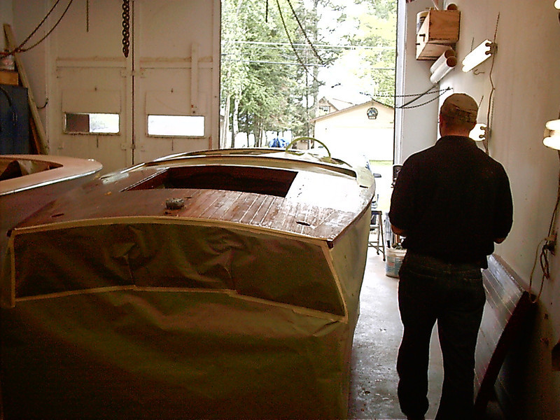 Starting to strip rear deck.