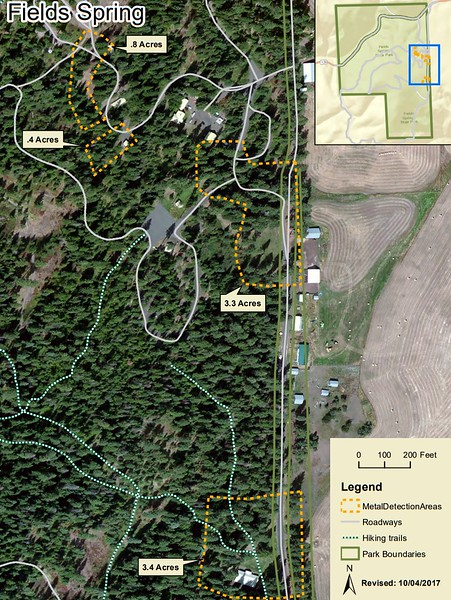 Fields Spring State Park (Metal Detection Areas)