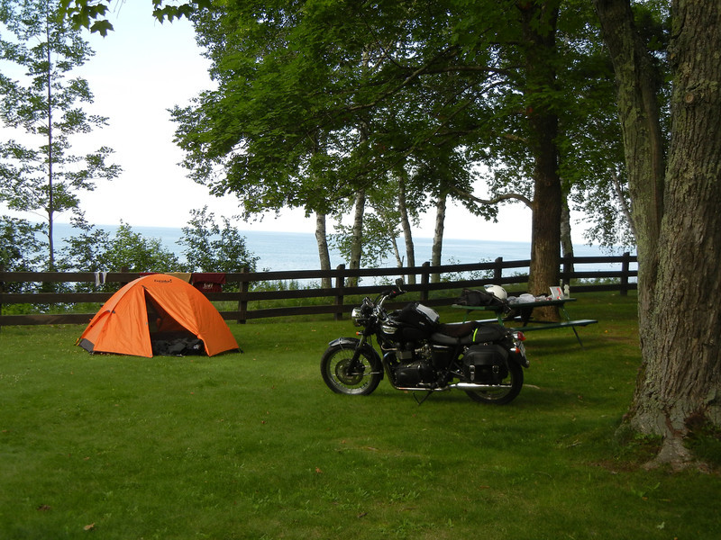 Camp on the first night: Little Girl Point.