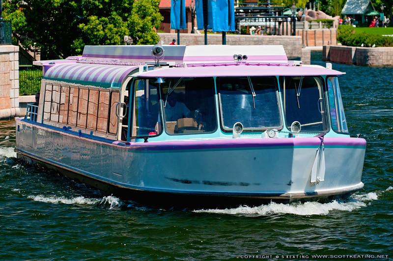 Boat transportatioin at EPCOT