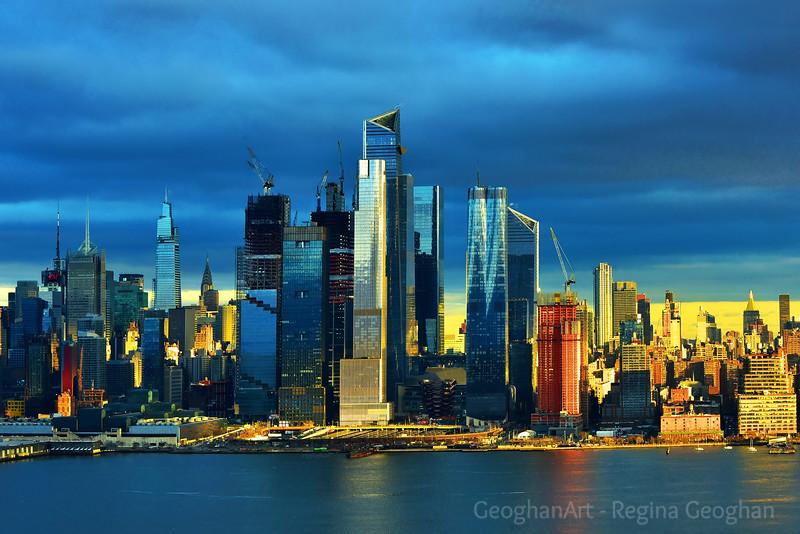 Cloudy Day Sundown Surprise NYC