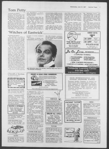 Summer Trojan, Vol. 104, No. 4, June 10, 1987