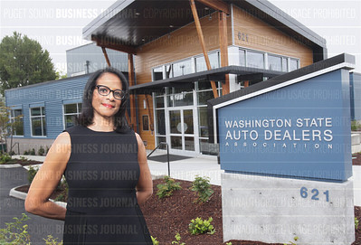 Vicki Giles Fabre, executive vice president of the Washington State Auto Dealers Association, is pictured at the association's headquarters in Renton, Washington