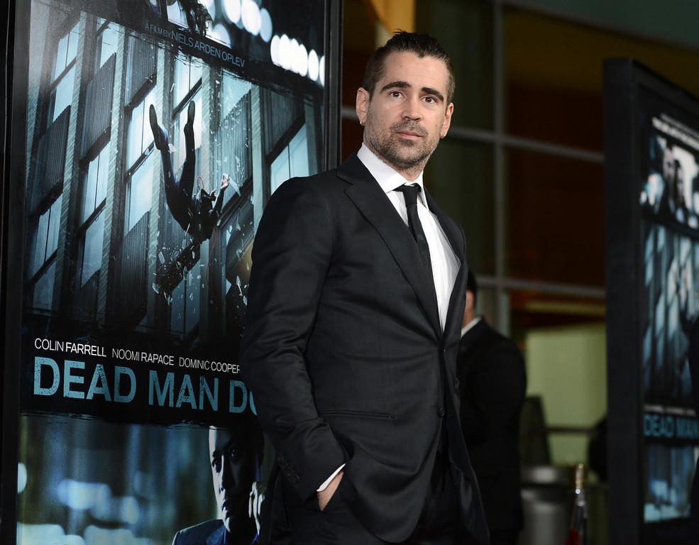 """. Actor Colin Farrell arrives to the premiere of FilmDistricts\'s \""""Dead Man Down\"""" at ArcLight Hollywood on February 26, 2013 in Hollywood, California.  (Photo by Kevin Winter/Getty Images)"""