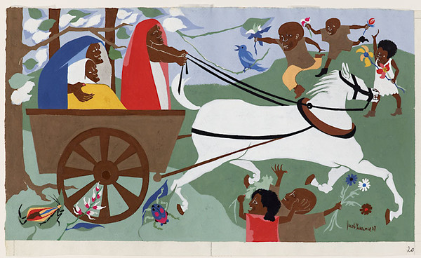 "Jacob Lawrence, ""Harriet and the Promised Land No. 17"" (1967)"